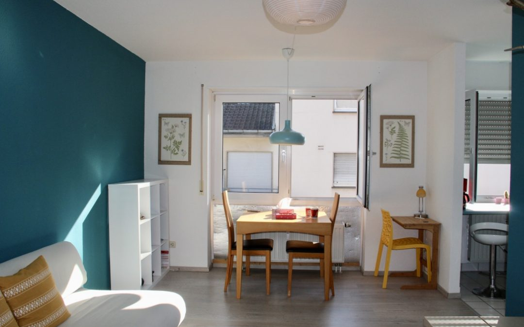 Modernes Wohnen mit vollwertiger Möblierung incl. Küche – 1,5 ZKB Apartment in Mannheimer Quadraten