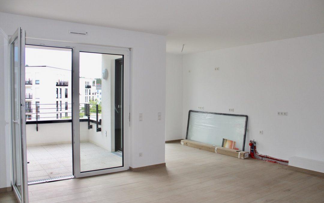 """NEUBAU ERSTBEZUG in top ausgestattete 2 ZKB Wohnung mit Küche und Balkon in Bensheim """"Euler-Gelände"""""""